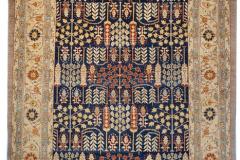 13397 Samarkand Navy:Camel Wool 5x7.6