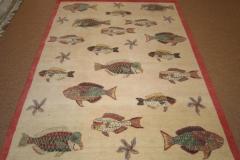 17565 Parrot Fish Ivory 5.2x7.1