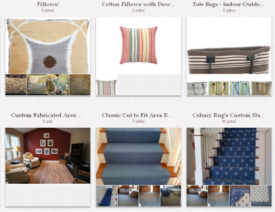 colony rug pinterest account
