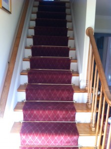 In The Before Image, The Client Had A Simple, Gray Cut Pile Carpet  Installed On Their Staircase. Not Only Did The New Carpet Transform The  Look, ...