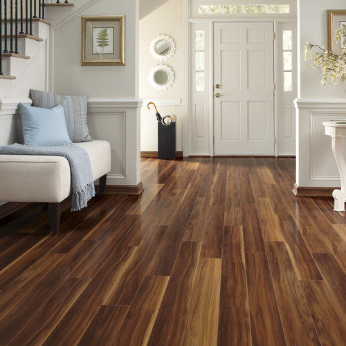 Luxury Laminate Flooring walnut mocha Traditional Entry