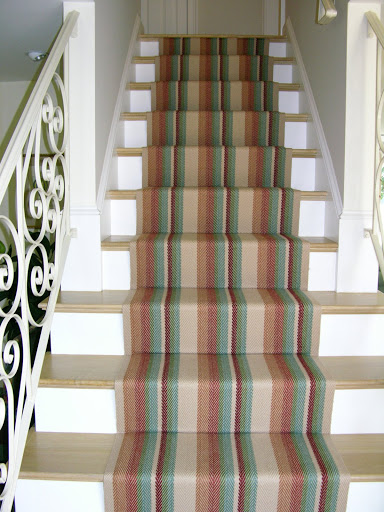 Waterfall vs. Hollywood stair installation  Colony Rug provider of ...