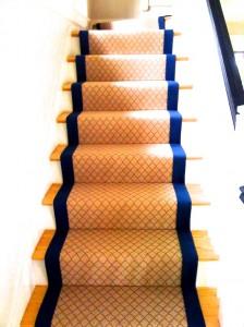 Wool Diamonds Stairs